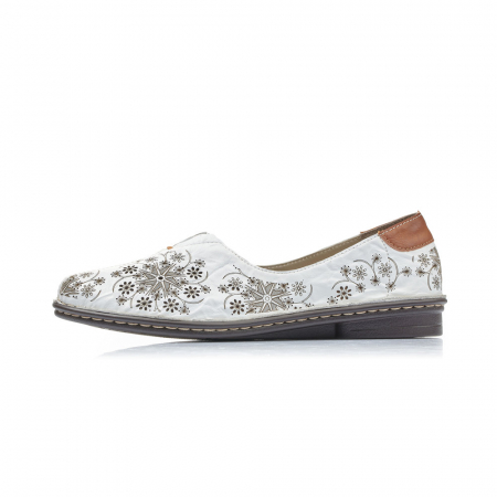 Pantofi dama vara, piele naturala, cod 48456-803