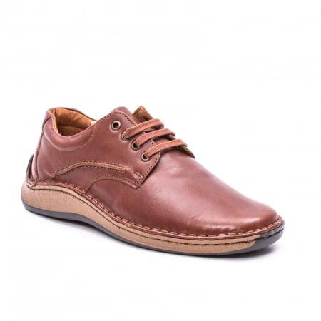 Pantofi Leofex 918 casual barbat piele naturala, maro0