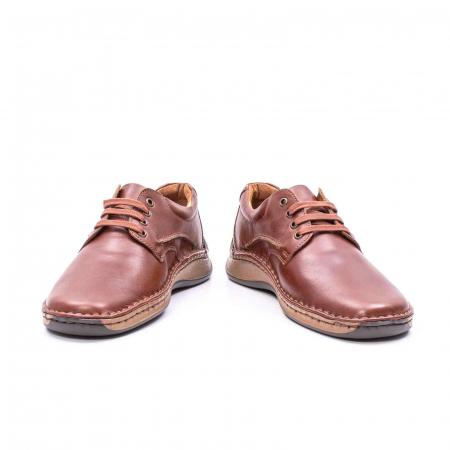 Pantofi Leofex 918 casual barbat piele naturala, maro4