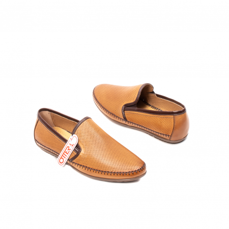 Pantofi barbati mocasini, piele naturala, OT-8401112