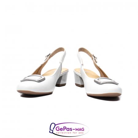 Pantofi piele decupati, AR35865, Alb4