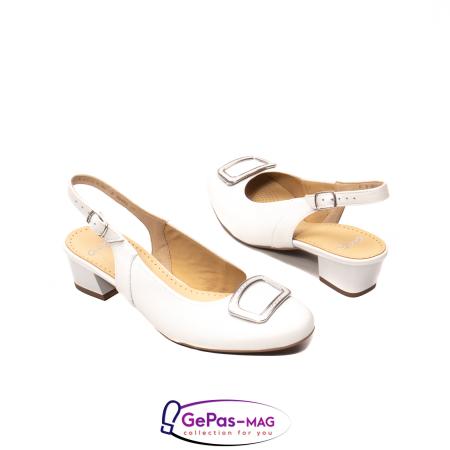 Pantofi piele decupati, AR35865, Alb2