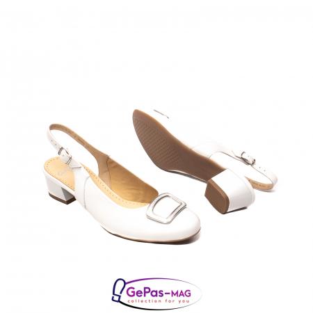 Pantofi piele decupati, AR35865, Alb3