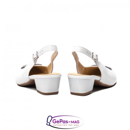 Pantofi piele decupati, AR35865, Alb6