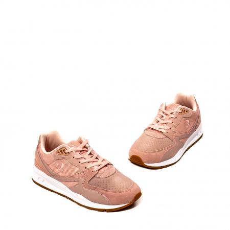 Pantofi sport dama tip Sneakers, piele naturala intoarsa, R800 W1