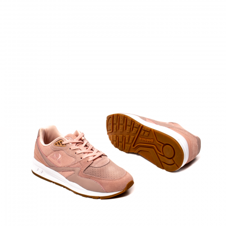 Pantofi sport dama tip Sneakers, piele naturala intoarsa, R800 W3