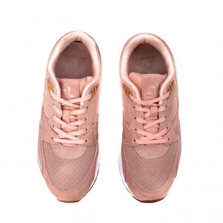 Pantofi sport dama tip Sneakers, piele naturala intoarsa, R800 W5