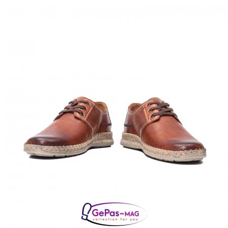 Pantofi vara barbati, piele naturala, 593 coniac [4]