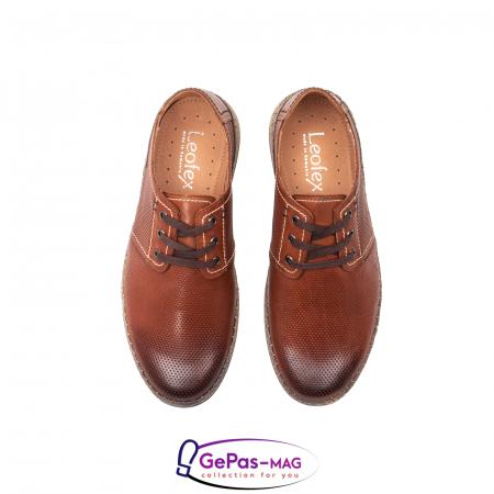 Pantofi vara barbati, piele naturala, 593 coniac [5]