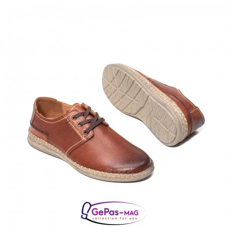Pantofi vara barbati, piele naturala, 593 coniac [3]