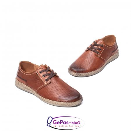 Pantofi vara barbati, piele naturala, 593 coniac [1]