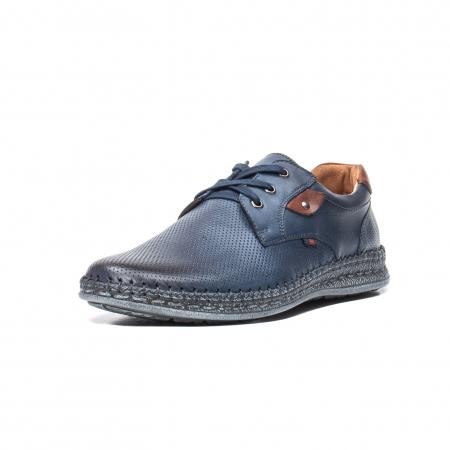 Pantofi vara barbati, piele naturala, 597 Bleumarin [0]
