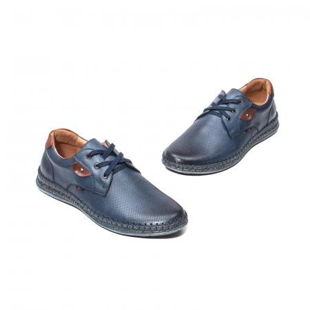 Pantofi vara barbati, piele naturala, 597 Bleumarin [1]