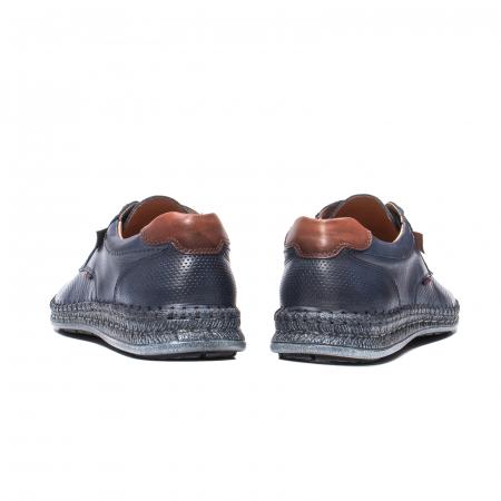 Pantofi vara barbati, piele naturala, 597 Bleumarin [6]