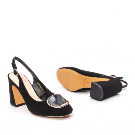 Pantofi dama vara eleganti, piele antilopa, Epica 00H6H3