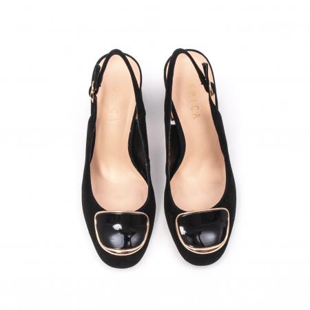 Pantofi dama vara eleganti, piele antilopa, Epica 00H6H5