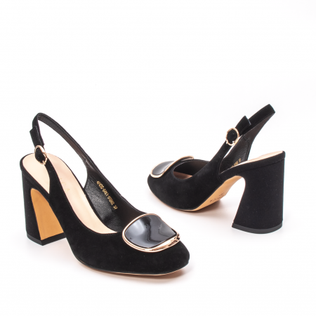Pantofi dama vara eleganti, piele antilopa, Epica 00H6H2