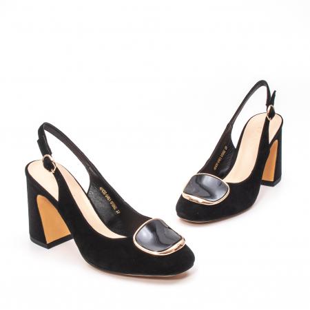 Pantofi dama vara eleganti, piele antilopa, Epica 00H6H1