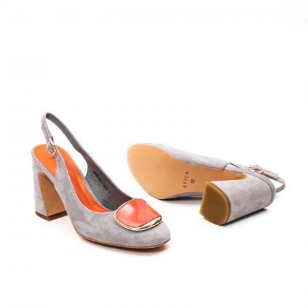 Pantofi dama vara eleganti, piele antilopa, EP-Y662H, multicolor3