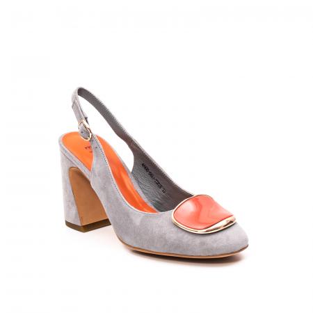 Pantofi dama vara eleganti, piele antilopa, EP-Y662H, multicolor0