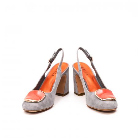 Pantofi dama vara eleganti, piele antilopa, EP-Y662H, multicolor4