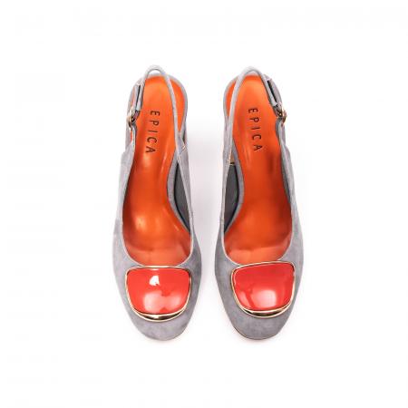 Pantofi dama vara eleganti, piele antilopa, EP-Y662H, multicolor5