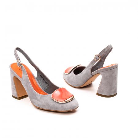 Pantofi dama vara eleganti, piele antilopa, EP-Y662H, multicolor2