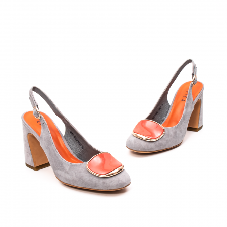 Pantofi dama vara eleganti, piele antilopa, EP-Y662H, multicolor1