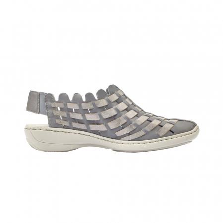 Pantofi dama de vara, piele naturala, RIK 413V8-126