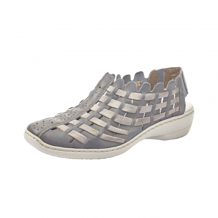 Pantofi dama de vara, piele naturala, RIK 413V8-120