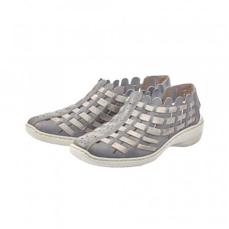 Pantofi dama de vara, piele naturala, RIK 413V8-123