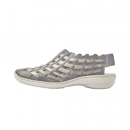 Pantofi dama de vara, piele naturala, RIK 413V8-125