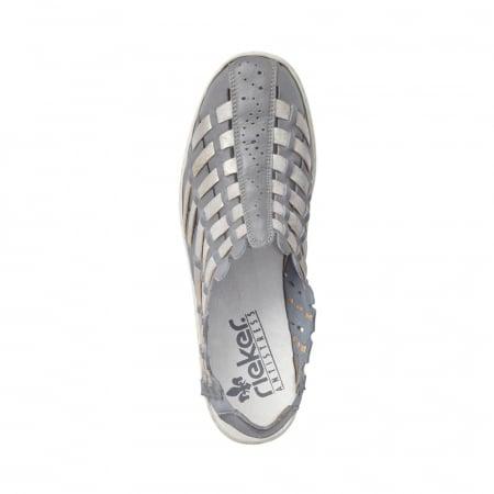 Pantofi dama de vara, piele naturala, RIK 413V8-122