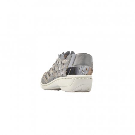 Pantofi dama de vara, piele naturala, RIK 413V8-124