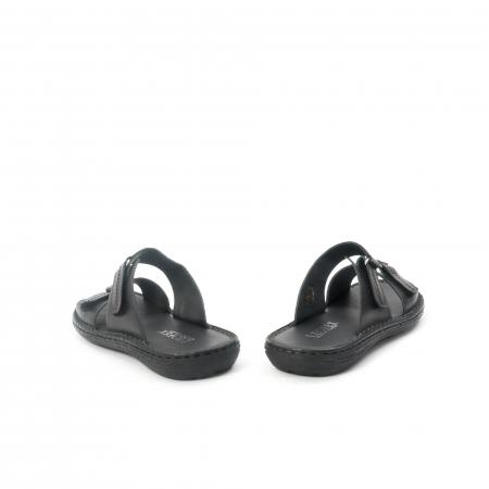 Papuci de  barbat din piele naturala ,culoare negru LEOFEX  5316