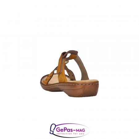Papuci dama, piele ecologica, 60827-684