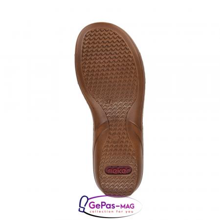 Papuci dama, piele ecologica, 60827-80 alb6