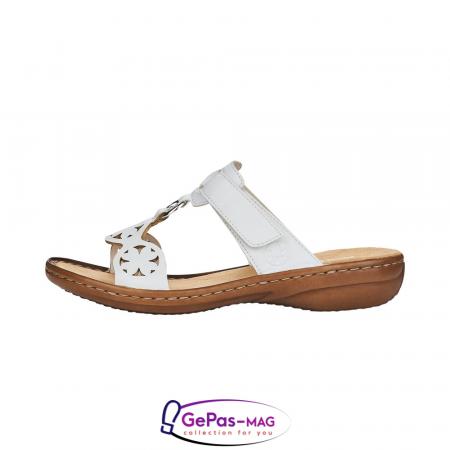 Papuci dama, piele ecologica, 60827-80 alb3