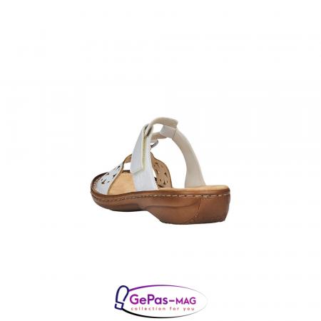 Papuci dama, piele ecologica, 60827-80 alb1