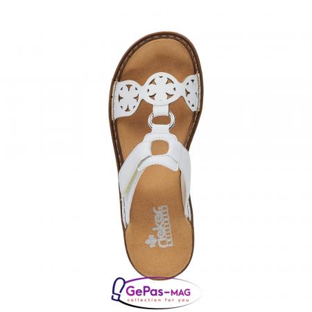 Papuci dama, piele ecologica, 60827-80 alb4
