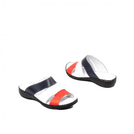 Papuci dama, piele naturala E3440, 15-N2