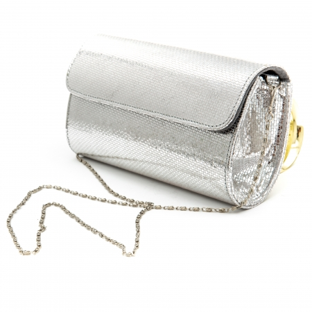 Plic butoias din piele argintiu - SOLZI1