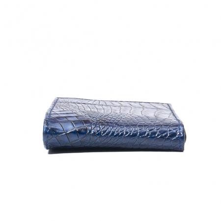 Portofel barbat piele naturala, bleumarin croco2