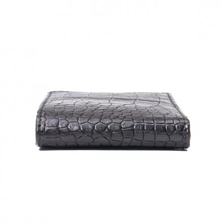 Portofel barbat piele naturala, negru croco2