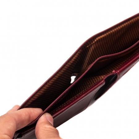 Portofel barbati din piele naturala -40-7-35 bordo [3]