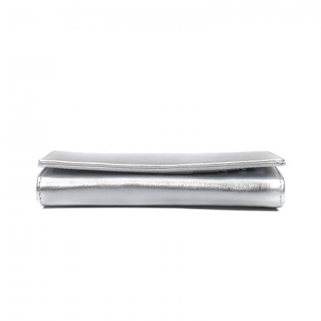 Portofel dama Elena, piele naturala, argintiu1