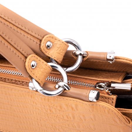 Poseta  din piele naturala Catali 315 camel2