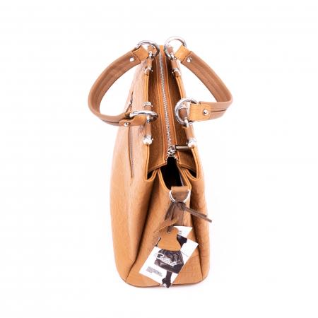 Poseta  din piele naturala Catali 315 camel4