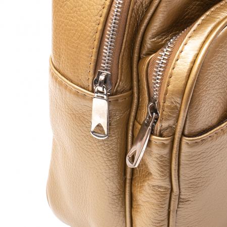 Rucsac din piele naturala Catali, model Oana 302, bronz1