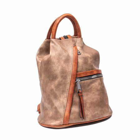 Rucsac piele ecologica Melissa 1310 taupe0